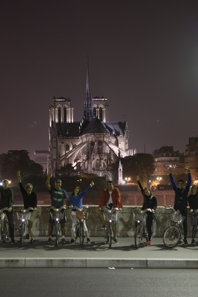 Midnight in Paris by bike